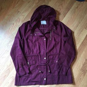 Plum Hooded Jacket